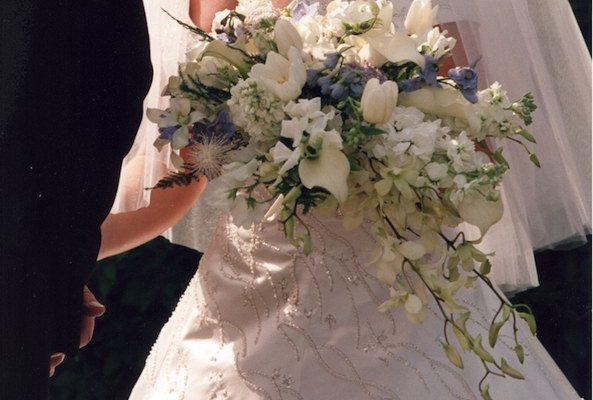 Tulips and lilies bridal bouquet